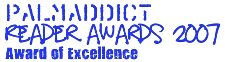 PalmAddict Award of Excellent 2007 Logo